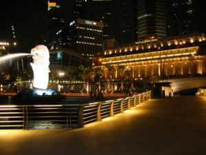 The Cultural Merlion at Merlion Park East Coast Singapore